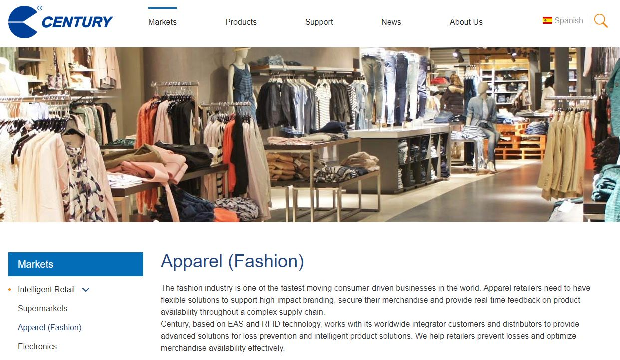 Century Fashion Industry IoT Solution