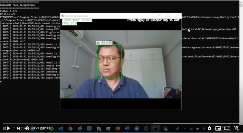 Intel OpenVINO Tool kit Download and Using for Facial Recognition